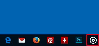 タスクバーに追加されたアプリ